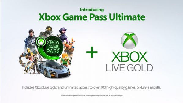 Xbox Game Pass Ultimate bundles Game Pass and Live Gold
