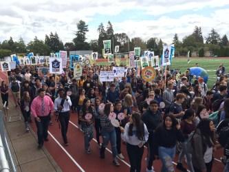 Corvallis High School student strikers
