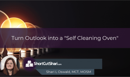 """Turn Outlook into A """"Self Cleaning Oven"""" with Retention Policies"""