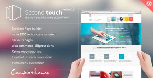 Second Touch — Powerful metro styled theme
