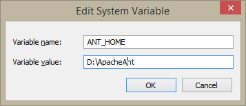 Configure ANT_HOME