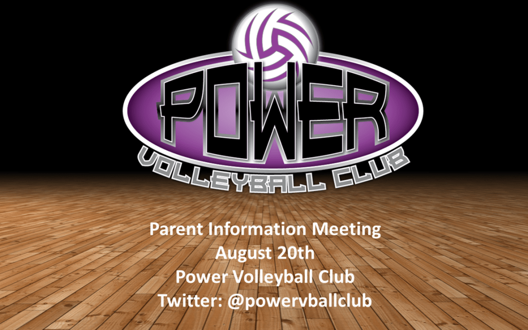 Club Information Meeting Power Point Presentation Power
