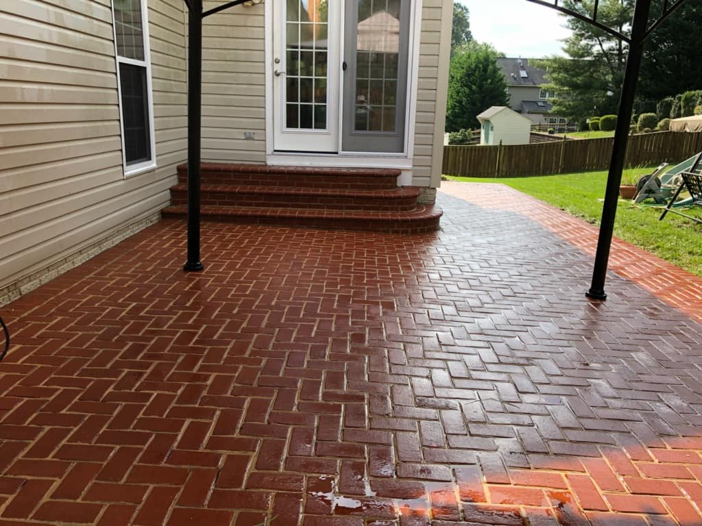 brick concrete stone patio cleaning