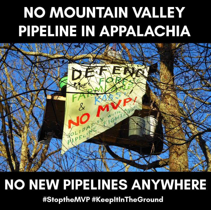 Pipeline resistors up in the trees with banner.