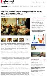 6.07.2016 - Gazeta Wyborcza o premierze FEPSl w Sali Sejmu Śląskiego