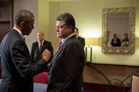 Barack Obama and Petro Poroshenko