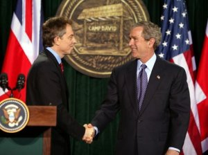 Bush & Blair at Camp David -- A Match Made in Hell