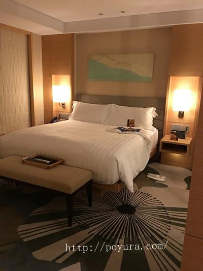インターコンチネンタルホテル大阪宿泊記ダブルベッド