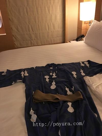 インターコンチネンタルホテル大阪宿泊記部屋着