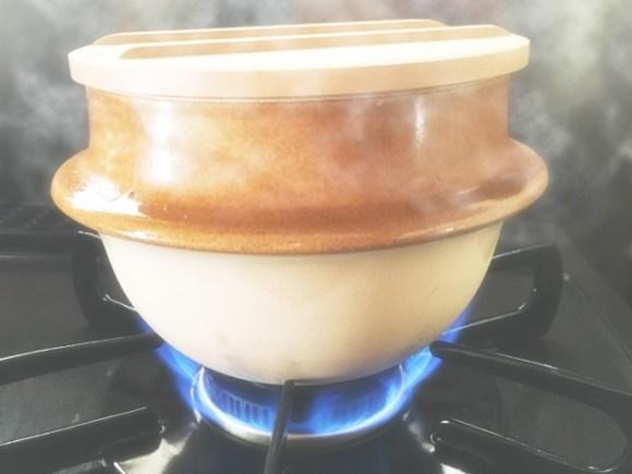 炊飯鍋で炊く
