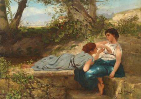 Rozmowa / Henryk Semiradzki, 1883