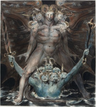 william blake motyw szatana