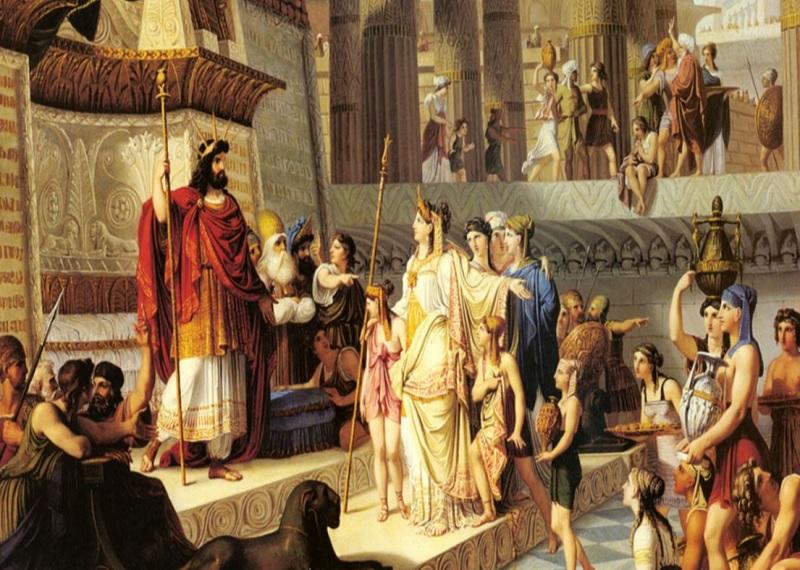 Соломон на картинах, царь Соломон, Джованни Демин Соломон и царица Савская, Соломонов суд, Соломоново решение