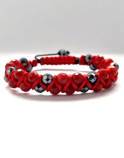Bransoletka damska kolor czerwony