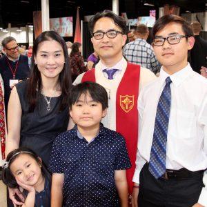 Rev. Joong Hyuck Kim and his family
