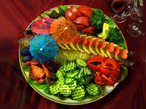 Праздничные овощные салаты