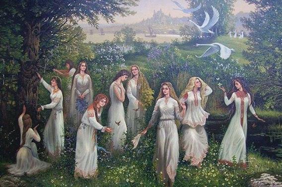 В троицкую субботу собирают в лесу аир, чабрец, мяту, полынь, любисток и другие травы