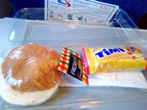 еда в самолете уральских авиалиний