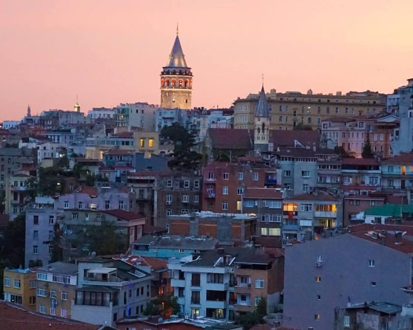Панорамный вид на вечерний Бургас