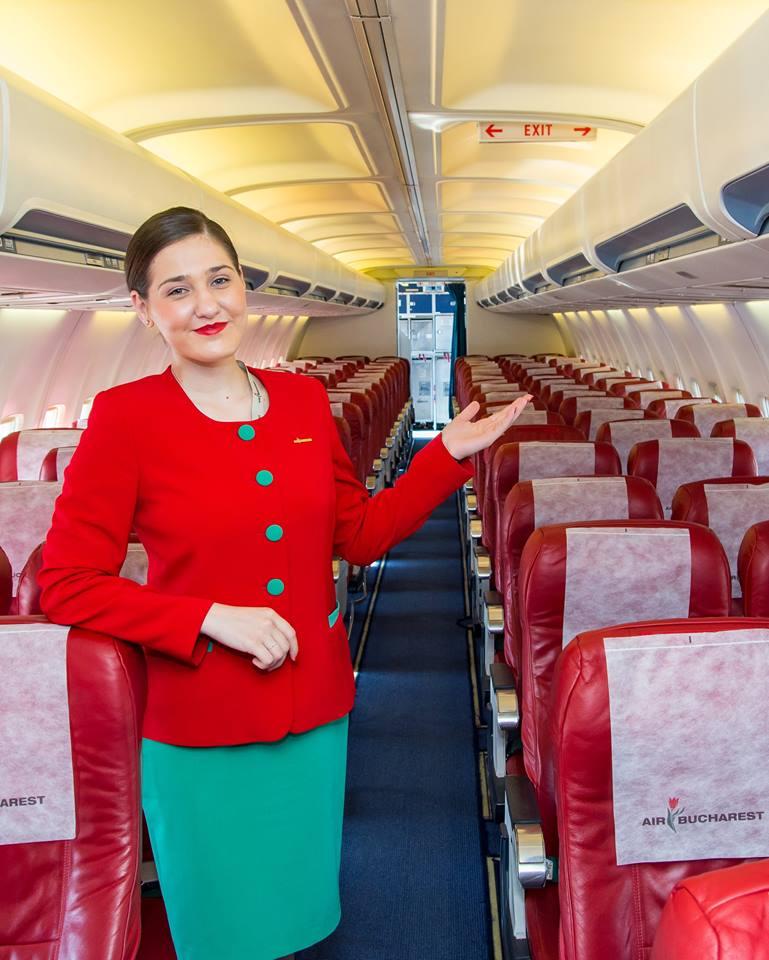 В салоне Боинга компании Air Bucharest