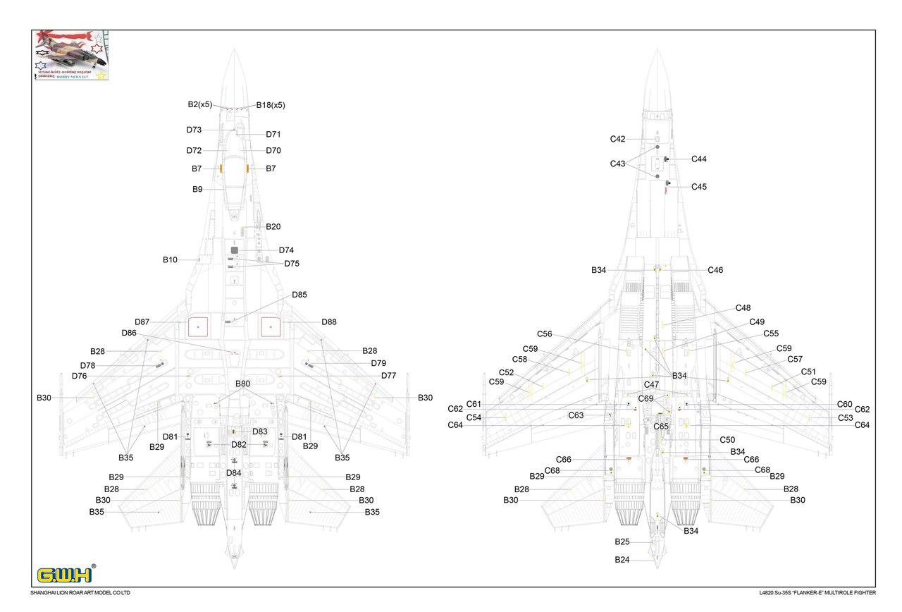 G W H 1 48 L Su 35s Flanker E Full Test Kit And