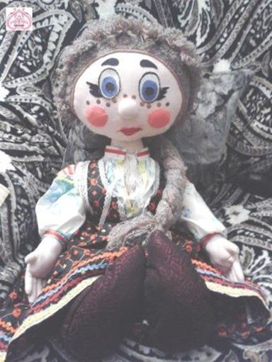 Большая текстильная кукла Варварушка.