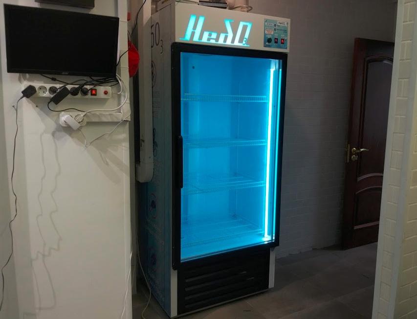 озонирующий шкаф из холодильника