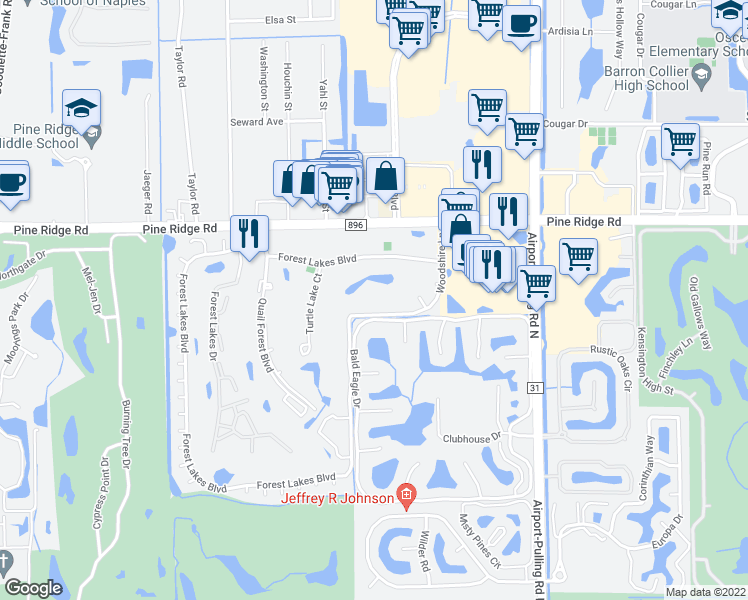 Map Road Florida Airport Naples And 41
