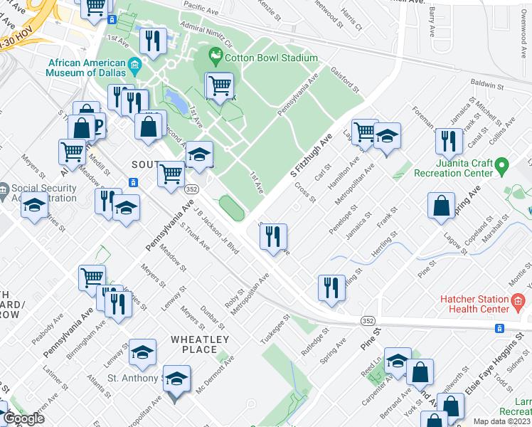Tx Map Dallas Fair Park