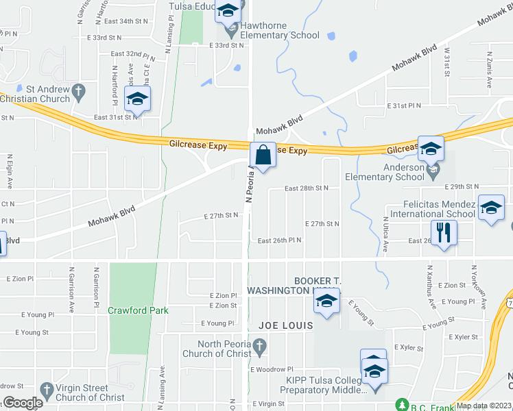 Ave Tulsa Peoria Map Zip Code Ok