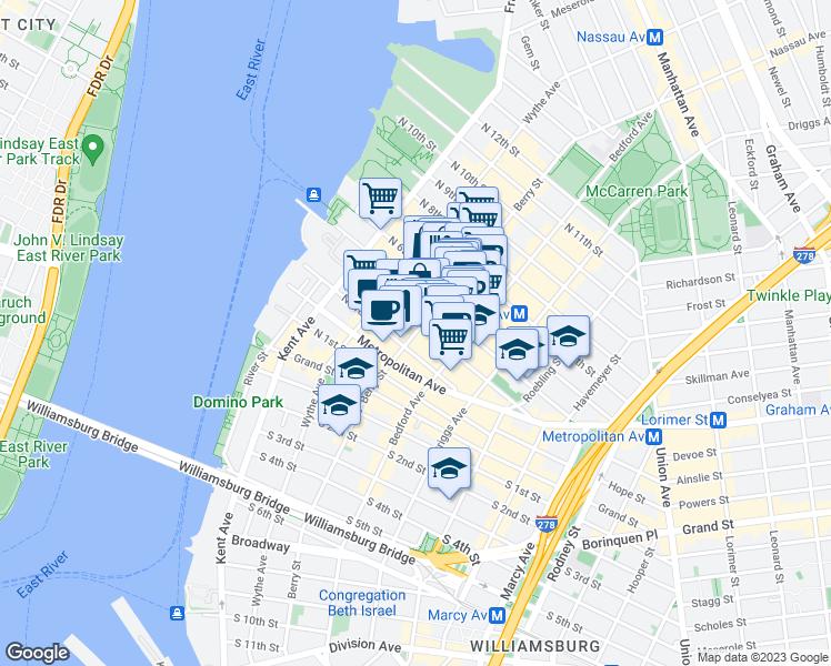 Brooklyn Zip Code Map 11249 on