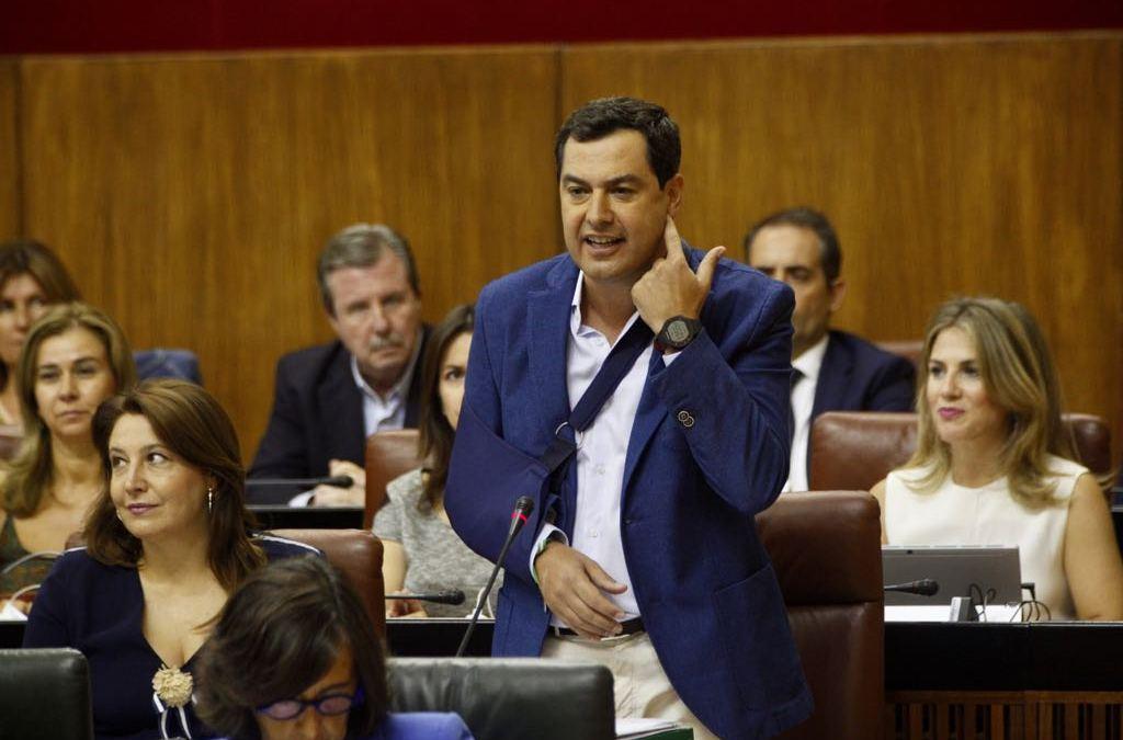 """Moreno: """"Es más fácil lograr un pacto de financiación en Andalucía que poner de acuerdo al PSOE"""""""