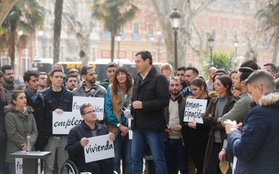 Juanma Moreno impulsará la 'cuota cero' los primeros 18 meses para jóvenes autónomos