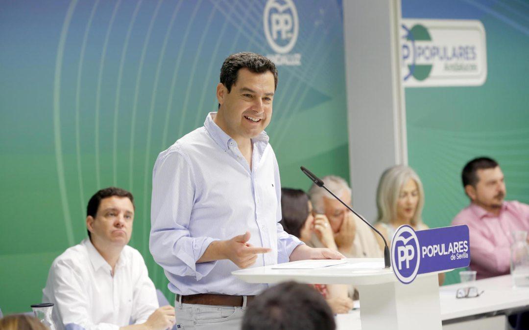 """Moreno: """"Con Pedro Sánchez ha vuelto el Gobierno de Rodríguez Zapatero"""""""