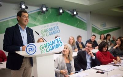 """Juanma Moreno pide a Díaz que cierre """"con dignidad"""" la etapa del socialismo en Andalucía"""