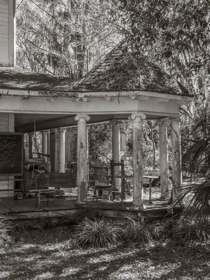 This is a porch that needs a little love and care