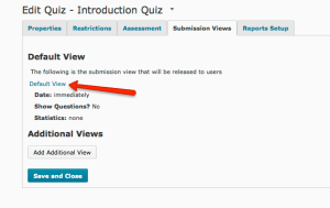 Quizzes Submissioin View tab