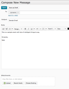 Compose New Message in D2L Email