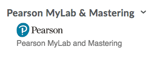 New Pearson MyLabs and Mastery widget