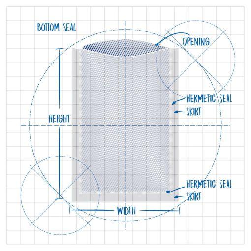 Precision Clean 2000 Die Line Bottom Seal Height Opening Hermetic Seal Skirt Hermetic Seal Skirt Width