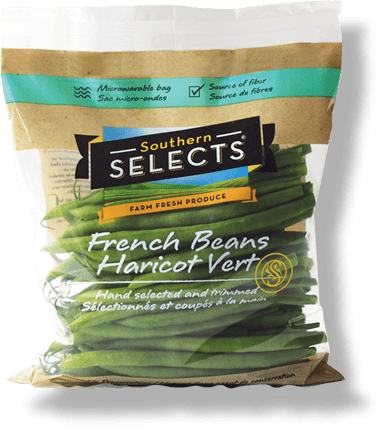 Produce Bag, Southern Selects, French Beans Packaging, Flexible Packaging Bag