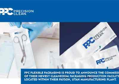 PPC FLEXIBLE PACKAGING IS PROUD TO ANNOUNCE THE COMMISSIONING OF THEIR NEWEST CLEANROOM