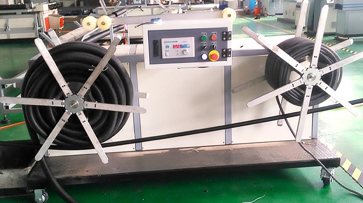 corrugated drainage pipe production line