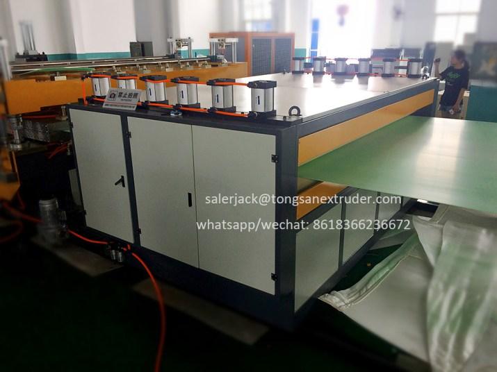 PP corrugated sheet machine