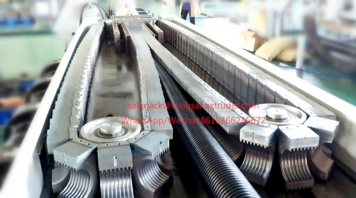 nylon pa corrugated pipe machine