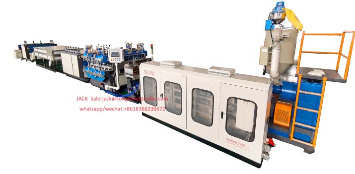 PP hollow profile sheet machine