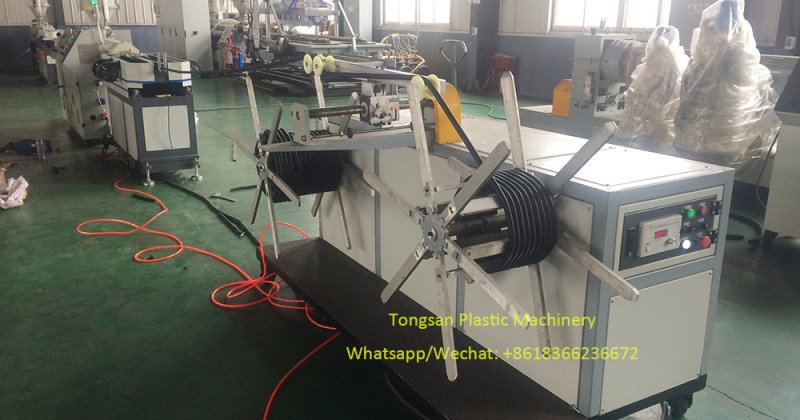 PP PE flexible corrugated electric conduit pipe making machine