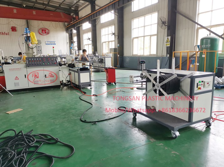 PP PE PVC single wall corrugated pipe production line