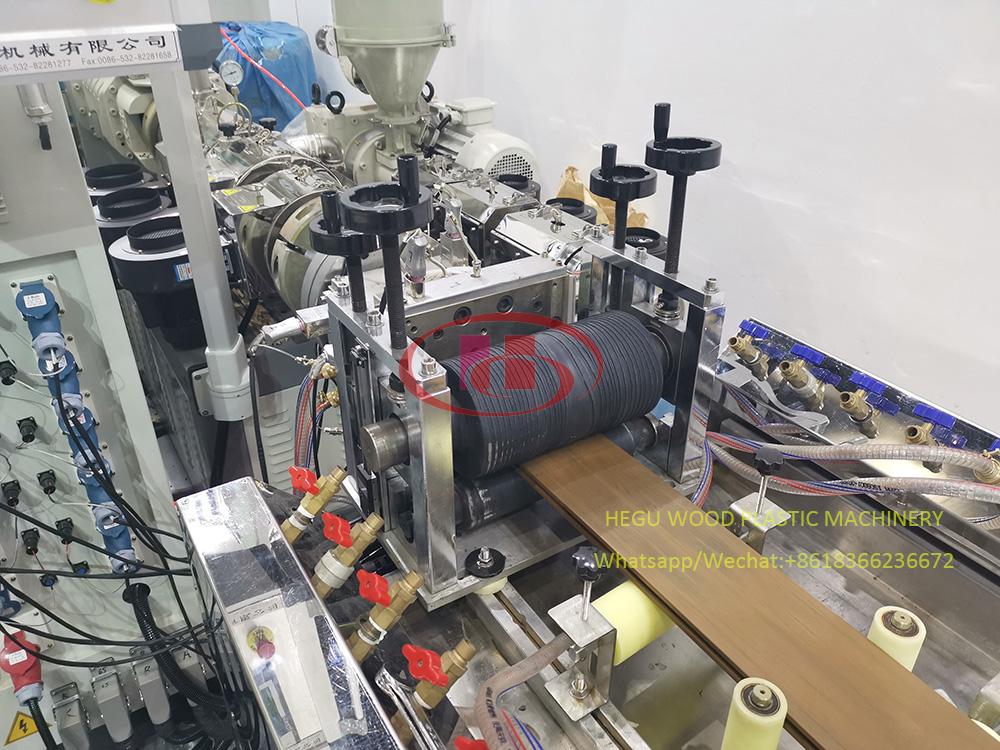WPC Machine de fabrication de decking