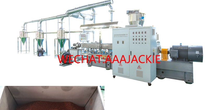 wood plastic WPC granulating pelletizing machine